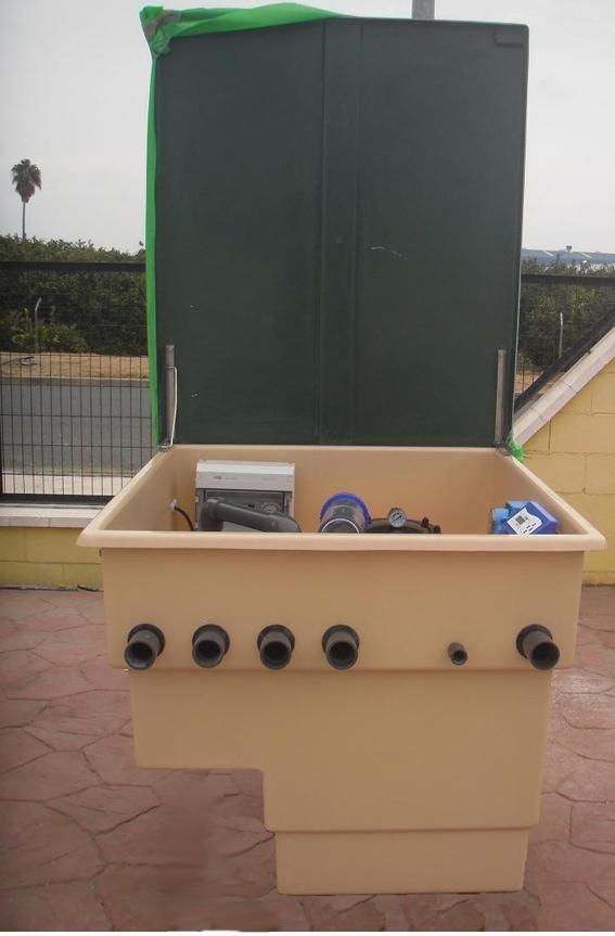 Depuradora piscina astralpool con caseta filtro 600 1 cv for Tapa depuradora piscina