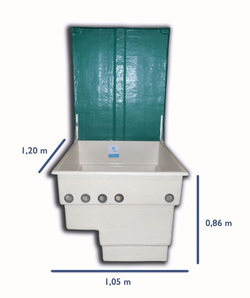 Depuradora piscina con caseta y clorador salino ph 80 m3 for Tapa depuradora piscina