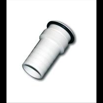 Racord conexión de 38 blanco barrefondo piscina