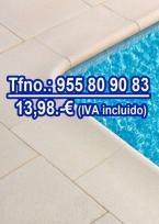 Piedra borde de piscina 100x100 cm crema
