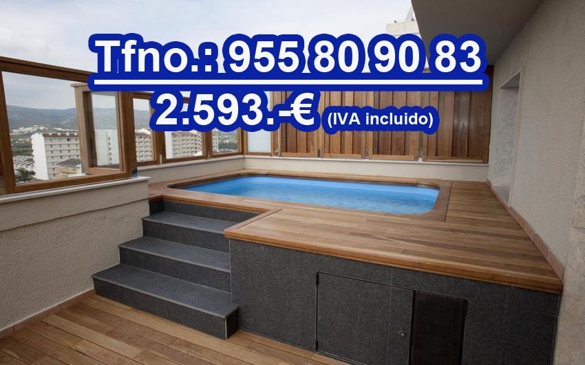 Mini piscina prefabricada elevada sol tienda online for Mini piscinas prefabricadas