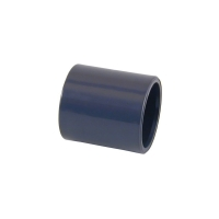Manguito uni  n pvc de 63 mm