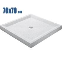 Plato de ducha 70 X 70 blanco granallado