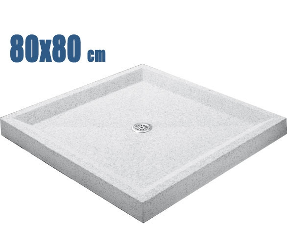 Plato de ducha 80 x 80 blanco granallado tienda online - Plato ducha piscina ...