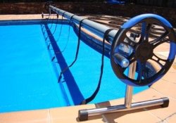 Enrollador plus 5 5 mts 7 25 mts tubo 100 mm lona piscina