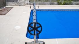 Enrollador basic 4 mts 5 50 mts tubo 75 mm cobertor piscina