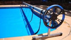 Enrollador plus 4 mts 5 50 mts tubo 100 mm cobertor piscina