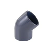 Codo pvc 45   de 63 mm
