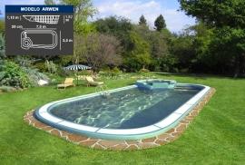 Lona piscina Venus con Spa