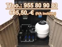 Caseta depuradora piscina elevada filtro 480-0,75 cv