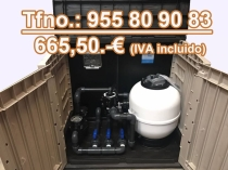 Depuradora piscina filtro 480 bomba 75 15M