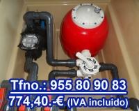 Caseta depuradora piscina Astropool filtro 500- 3/4 cv