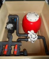 Depuradora piscina con caseta filtro 500 3/4 cv