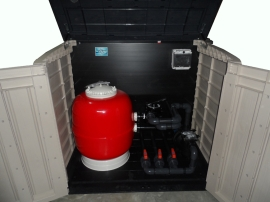 Caseta depuradora elevada piscina filtro 500 bomba 3 4 CV