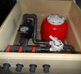 Caseta depuradora piscina filtro 600 mm Bomba 1 cv