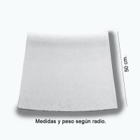 Piedra de piscina curva diámetro 1,50 blanca