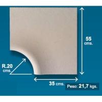 Piedra de piscina esquina 35x54 cm crema
