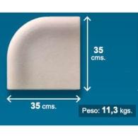 Piedra de piscina esquina invertida 35x35 cm crema