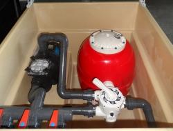 Caseta depuradora filtro 750 mm bomba 2 cv