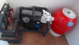 Depuradora piscina filtro 350 mm bomba 0 5 cv  20 m3