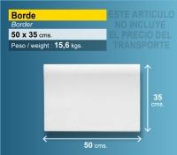 Piedra borde de piscina 50x35 blanca