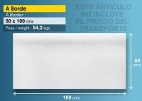Piedra borde de piscina 100x50 cm blanca