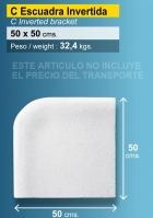 Piedra de piscina esquina invertida 50X50 cm blanca