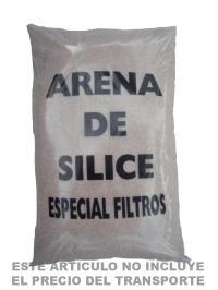 Arena de silice filtro piscina
