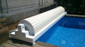 Cubierta Autom  tica piscina Flotante 6X3 mts
