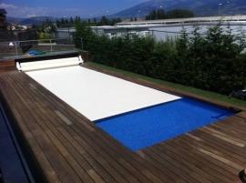Cubierta Autom  tica piscina Flotante 10 X 4 mts