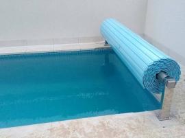 Cubierta Manual piscina Flotante 8 X 4 mts