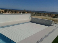 Cubierta Manual piscina Flotante 10 X 4 mts