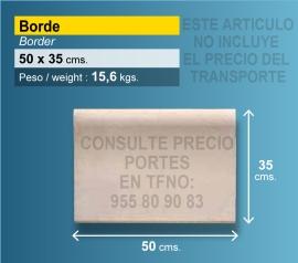 Piedra borde de piscina 50x35 cm crema
