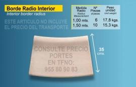 Piedra de piscina curva interior de 56X35 crema