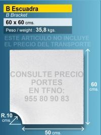Piedra de piscina esquina 50x60 cm blanca R 10