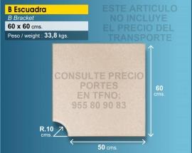 Piedra de piscina esquina 50x60 cm crema R 10