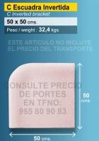 Piedra de piscina esquina invertida 50X50 cm crema