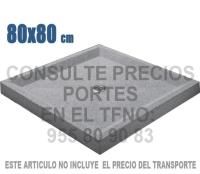 Plato de ducha 80 X 80 gris granallado