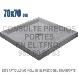 Plato de ducha piscina 70 X 70 gris granallado