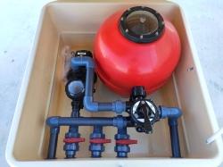 Depuradora caseta semielevada filtro 600 mm  Bomba 1 cv