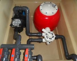 Caseta depuradora piscina Filtro 500 Bomba 1 CV