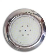 Foco extraplano piscina LED blanco 15 W inoxidable 15 cm